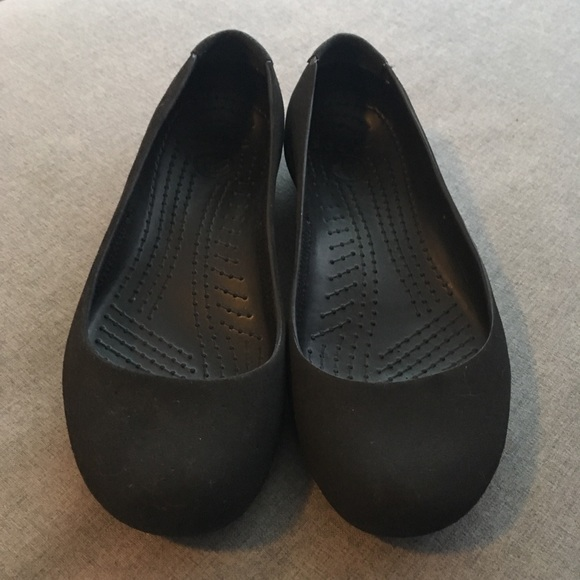 5aeddaee54eb CROCS Shoes - Crocs Black Ballet Flats